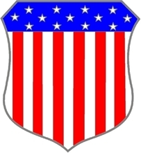 This shield is used in many state flags or as an escutcheon in State seals and coats of arms.