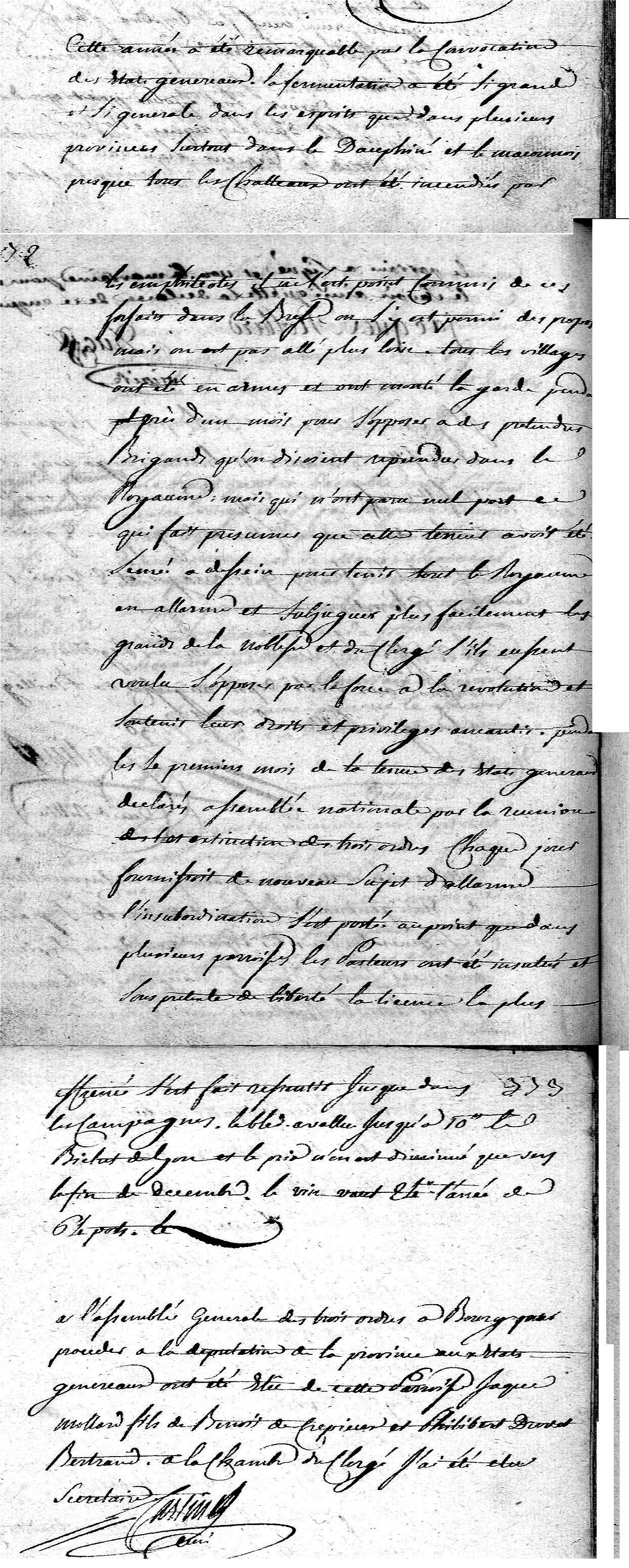 Chronique de l'année 1789 & événements révolutionnaires