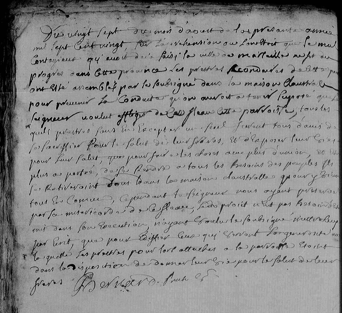 RIANS EPARGNE PAR LA PESTE DE 1720