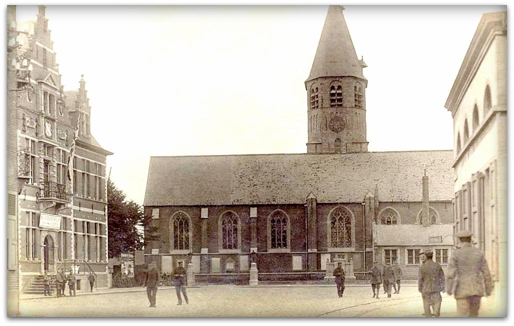 """Oostkamp - Oostkamp """" Duitse fotokaart Oorlog 1914-1918 """""""