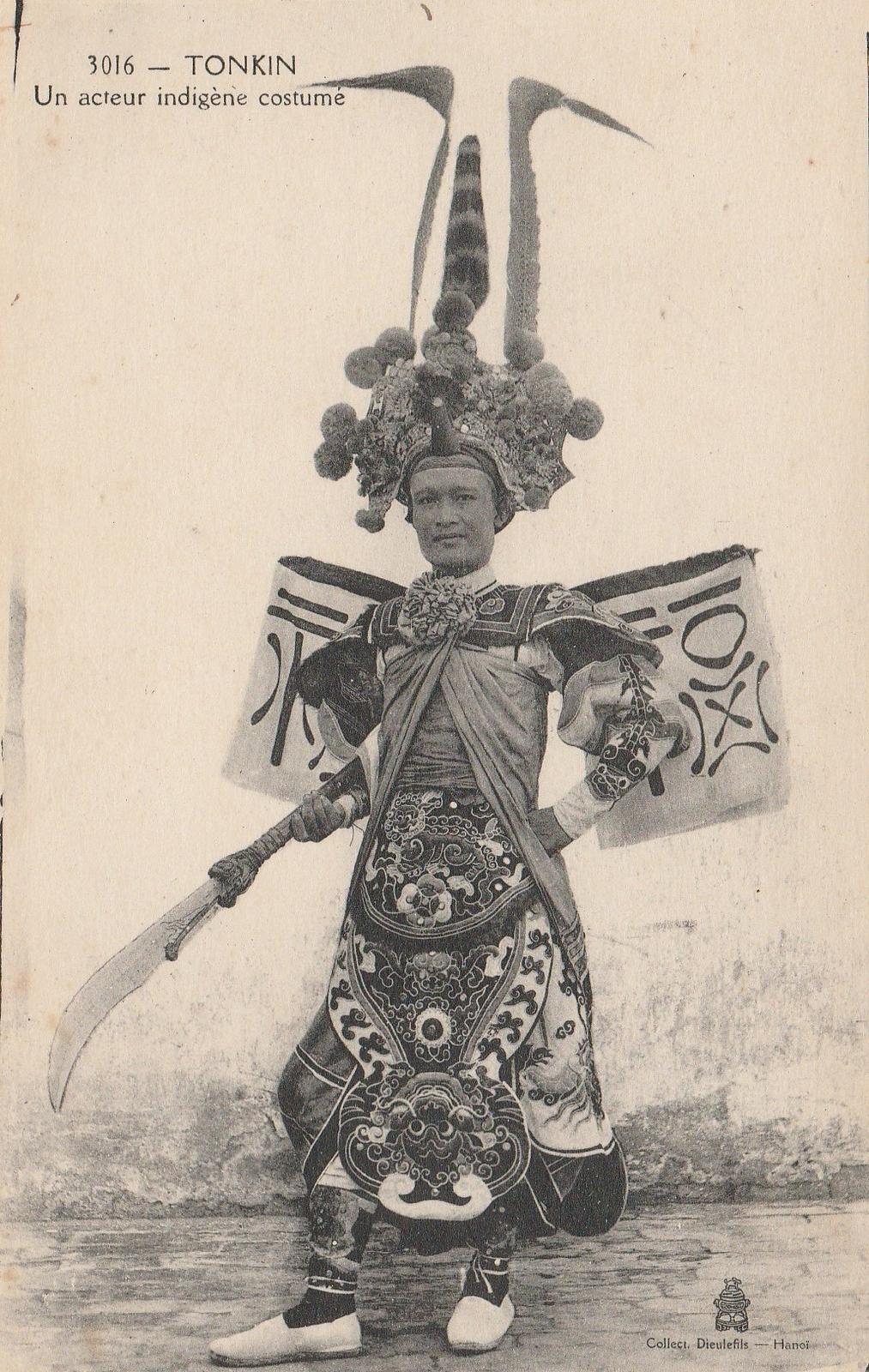 -  Acteur indigène costumé du Tonkin