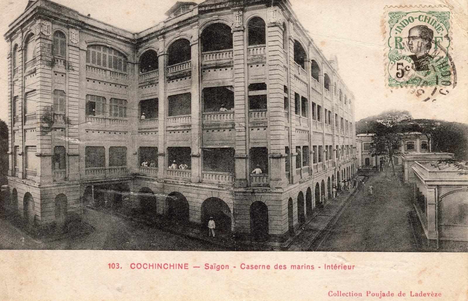 Saïgon -  COCHINCHINE-Saïgon-Caserne des Marins-Intérieur