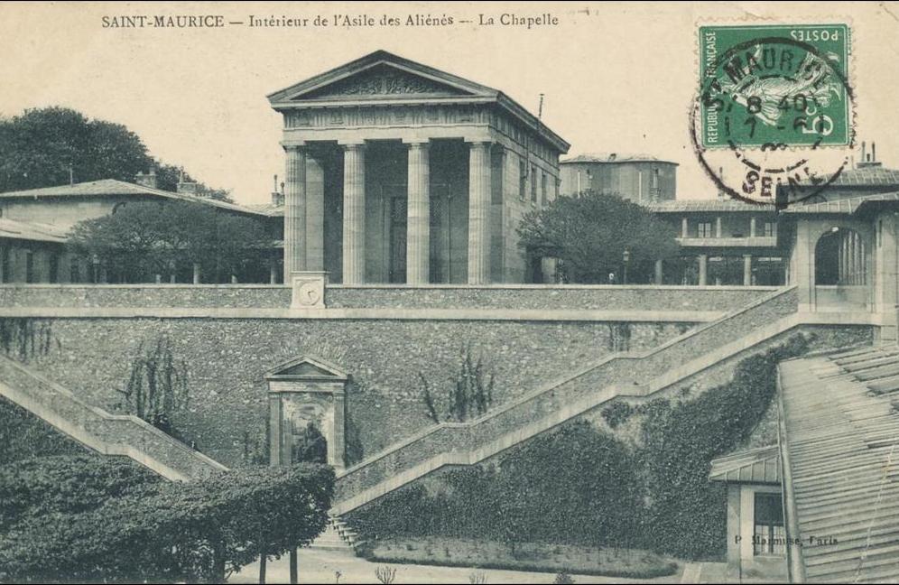 Saint Maurice - Saint Maurice, Intérieur de l&acute asile des aliénés, la chapelle, P. Marmuse Paris