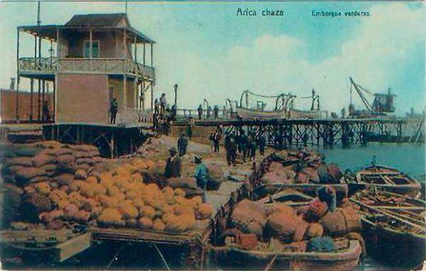 Arica - Chaza, embarque de verduras.