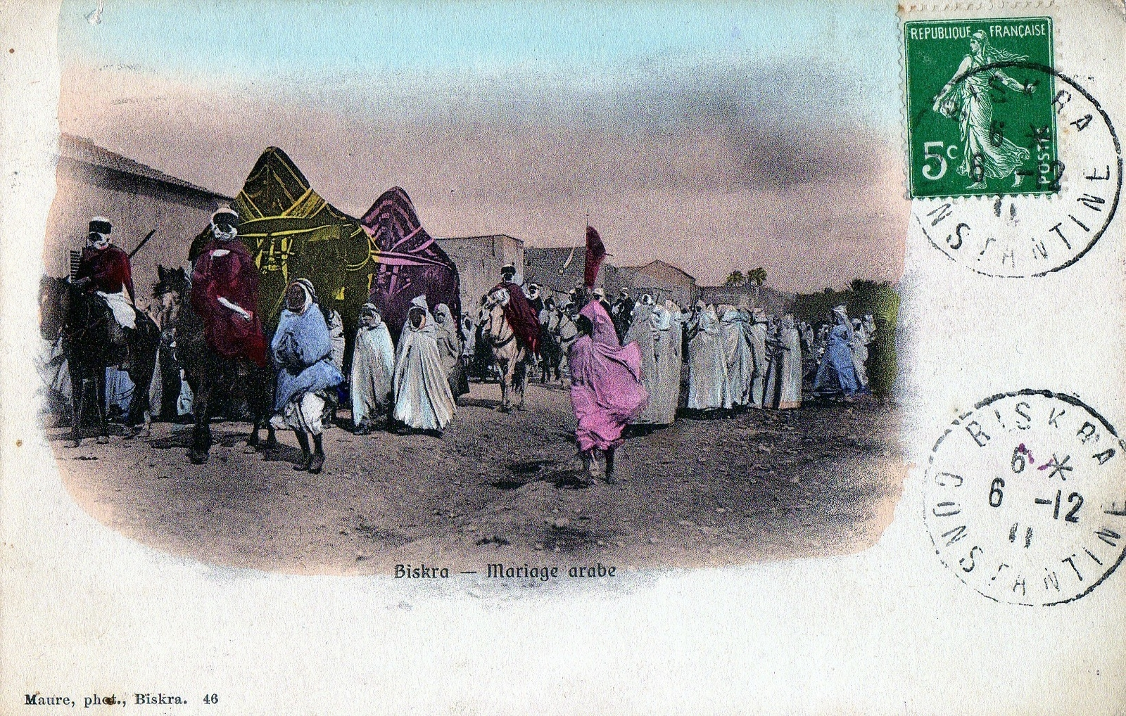 Biskra Mariage Arabe Carte Postale Ancienne Et Vue D Hier Et Aujourd Hui Geneanet