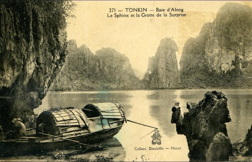 -  TONKIN...BAIE D(ALONG..LE SPHINX ET LA GROTTE DE LA SURPRISE...