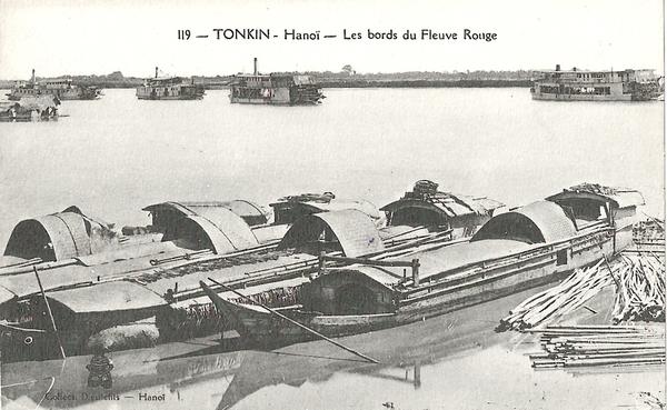Hanoï - Tonkin-Hanoï-les bords du Fleuve Rouge