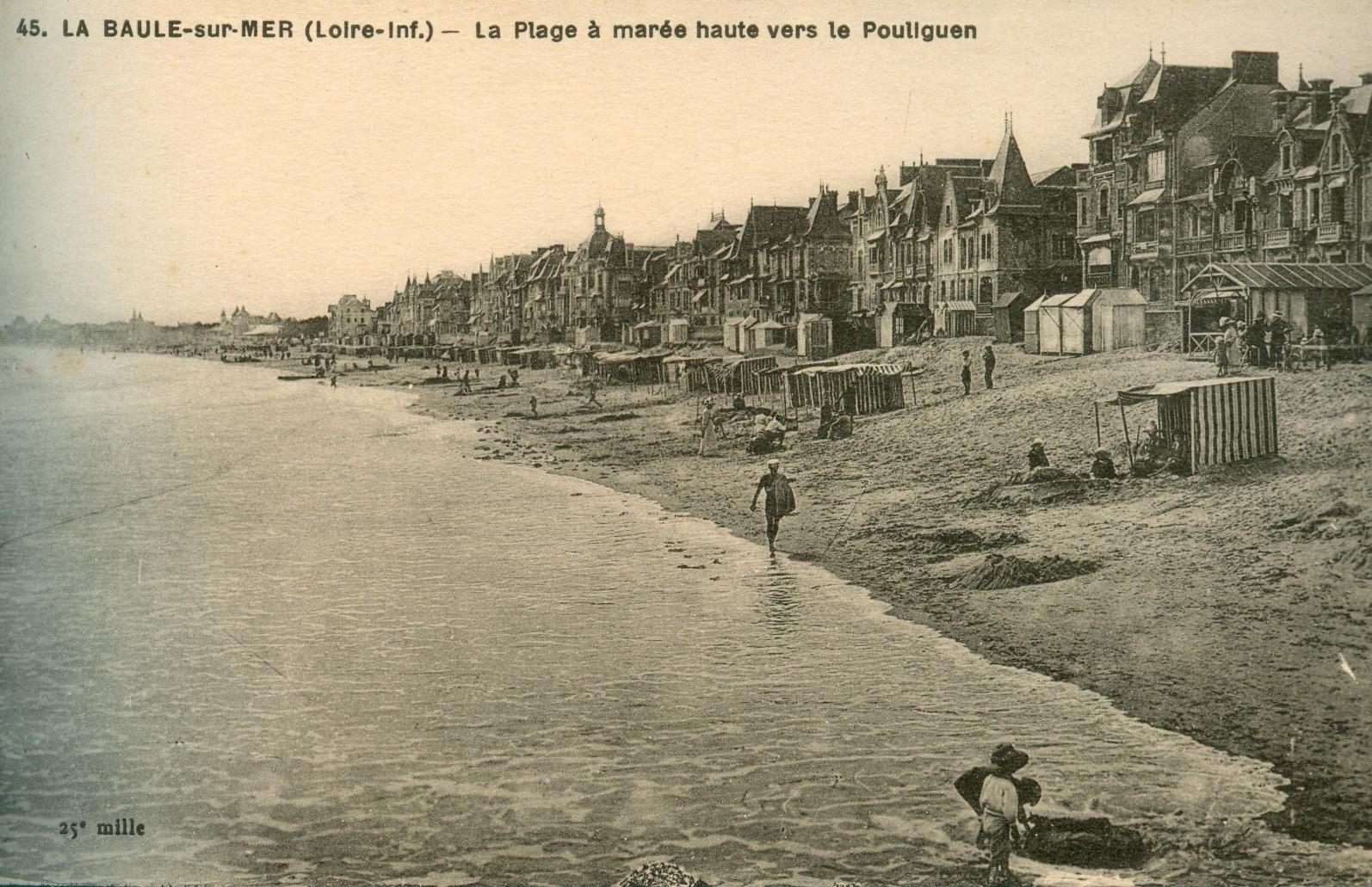 La Baule sur Mer - La Plage - Carte postale ancienne et vue d'Hier et Aujourd'hui - Geneanet
