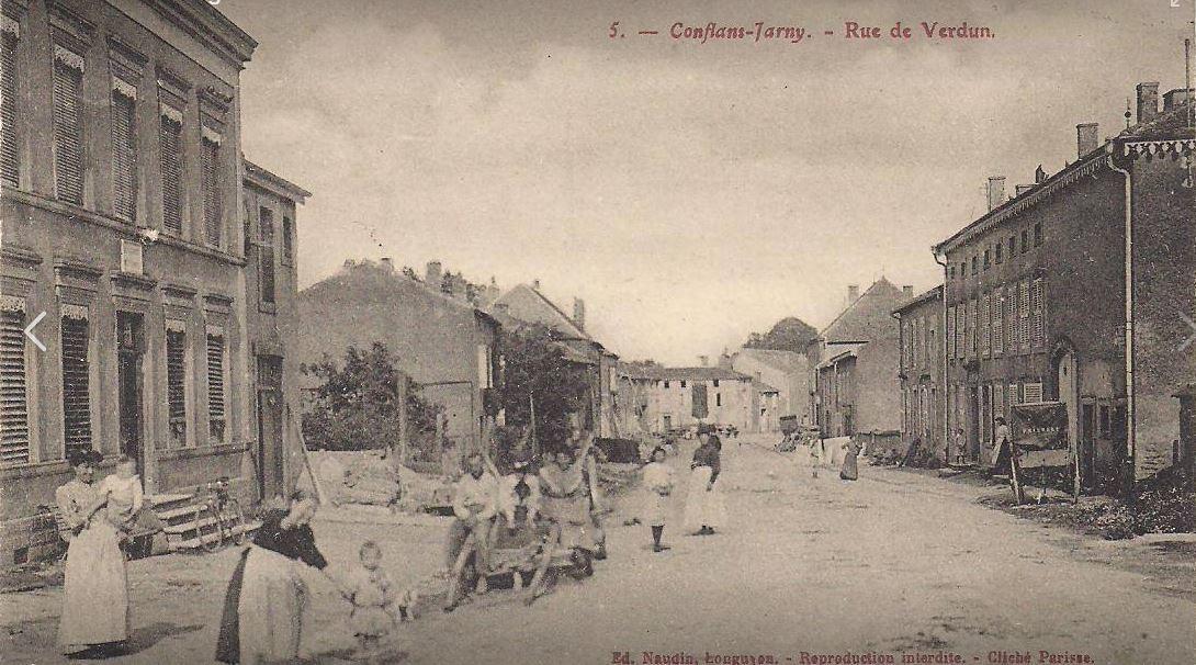Conflans-en-Jarnisy - CONFLANS-en-JARNISY (54), la Rue de Verdun vers Etain (9), vers 1915