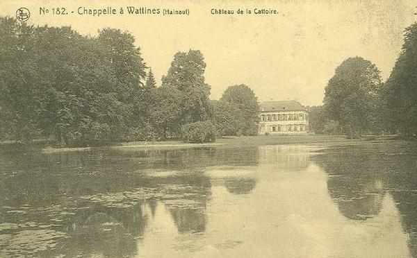 Blicquy - Château de la Cattoire situé à BLICQUY. CHAPELLE-A-WATTINES, indiqué sur la carte, était en fait la commune où était installé le bureau de poste desservant BLICQUY.