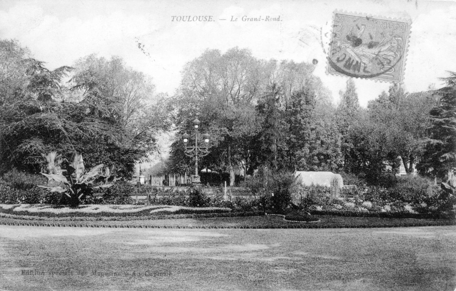 Toulouse - Jardin du Grand-Rond - Carte postale ancienne et ...