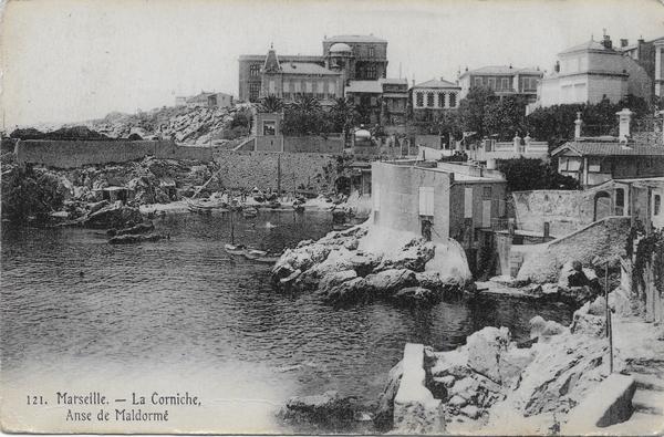 Marseille - La Corniche - Anse de Maldormé