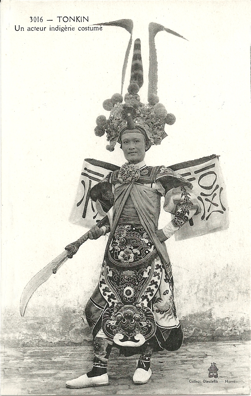 -  Tonkin-Un acteur indigène costumé