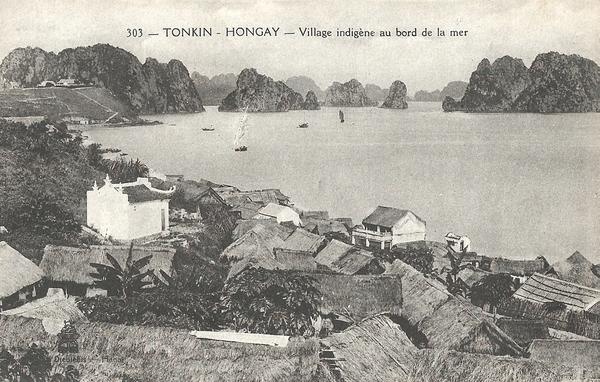 Hongay - Tonkin-Hongay-Village indigène au bord de la mer