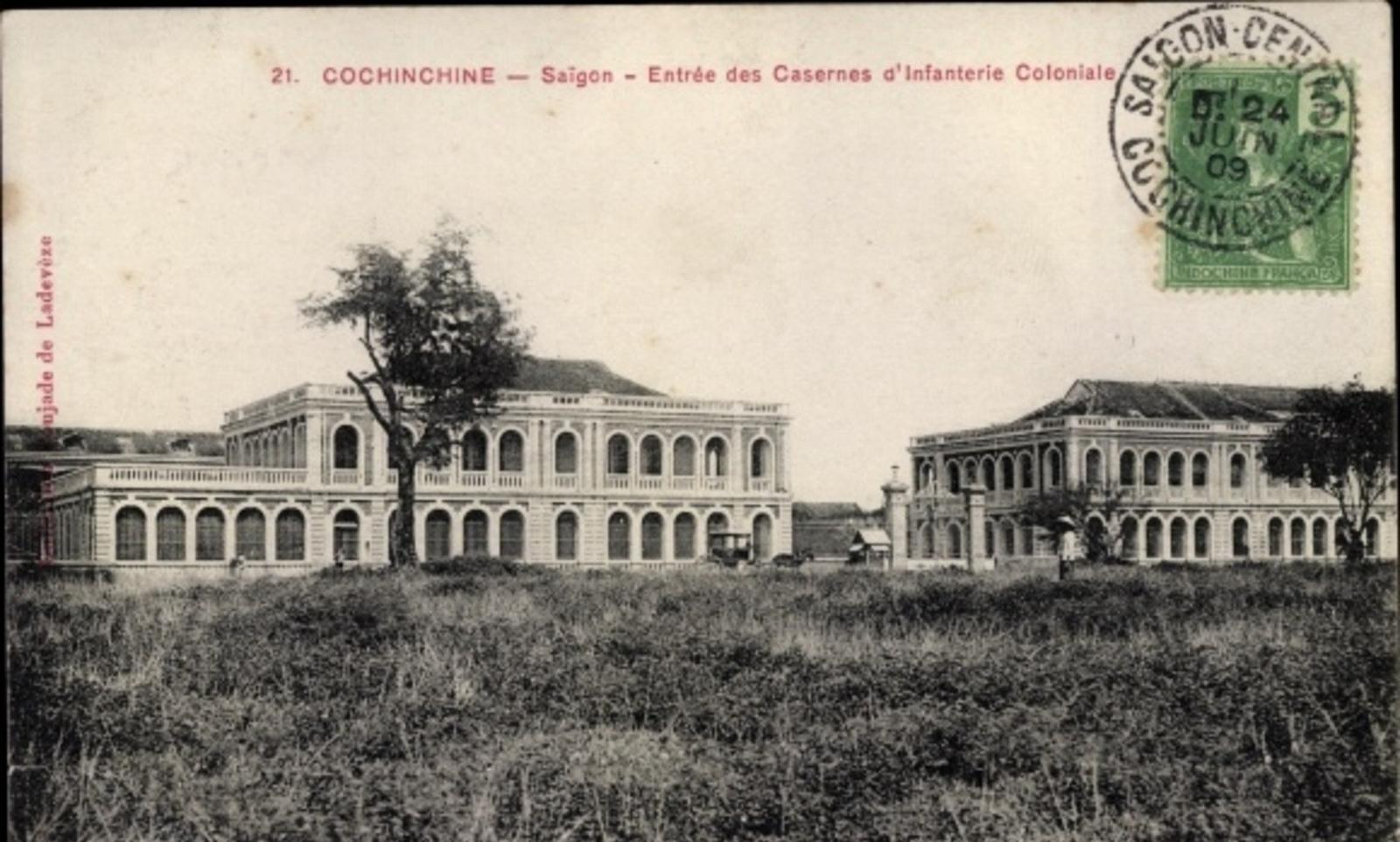 Hô Chi Minh-Ville -  Cp Saigon Cochinchine Vietnam, Entrée des Casernes d'Infanterie Coloniale