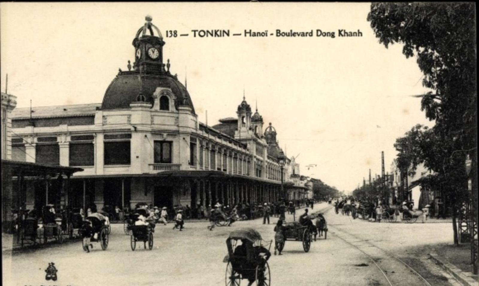 Hanoi -  Cp Hanoi Tonkin Vietnam, Boulevard Dong Khanh
