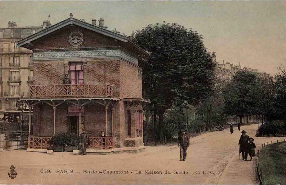 Paris - s07-029 Paris - Buttes-Chaumont - La Maison du Garde - Carte colorisée - Animée