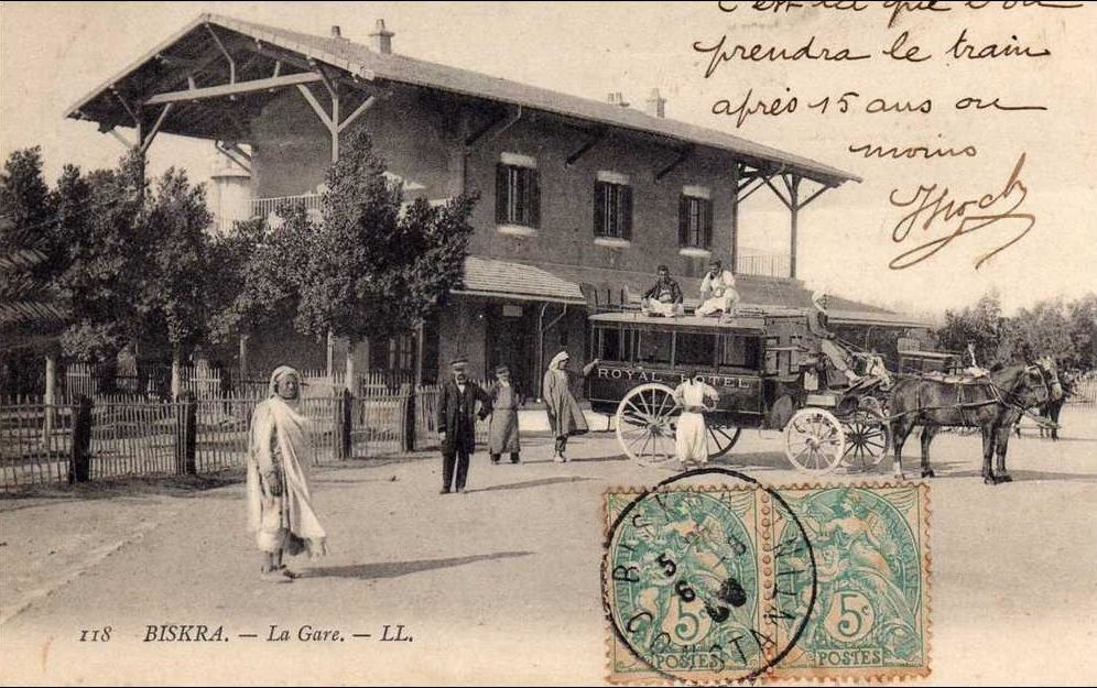 Biskra - C    -      372   -         BISKRA   -                ( Algérie )     -         La     Gare      .