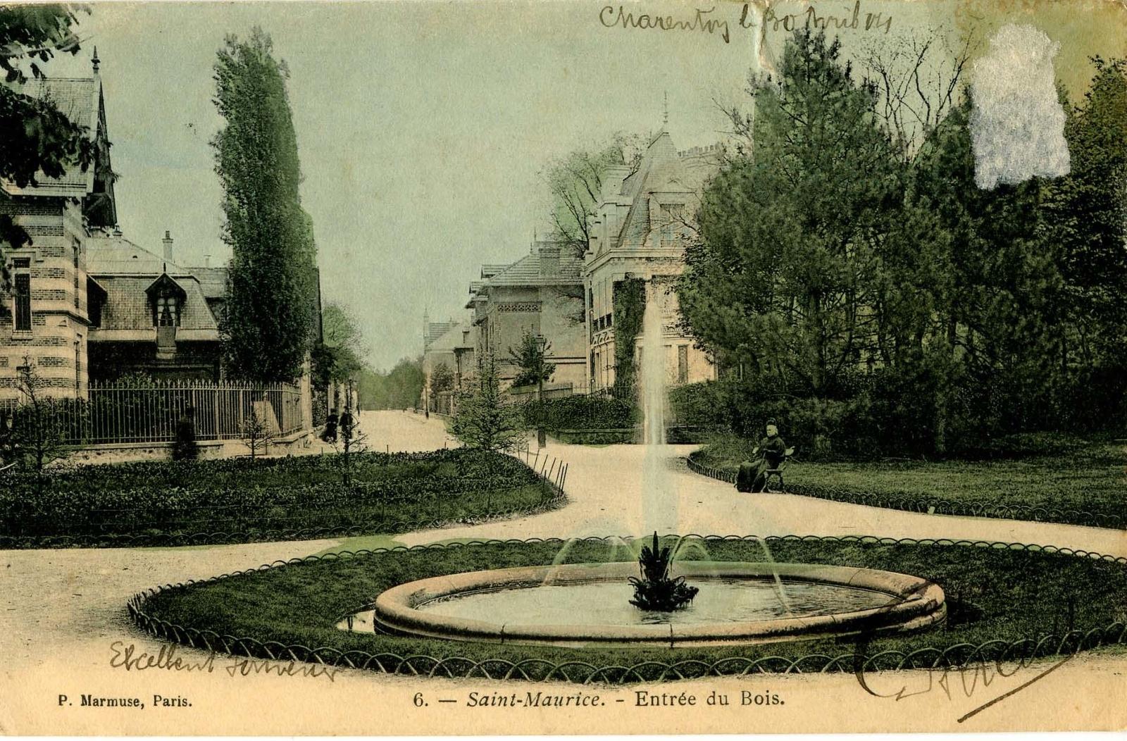 Saint-Maurice - correspondance de mes grands parents - carte postale envoyée en 1904