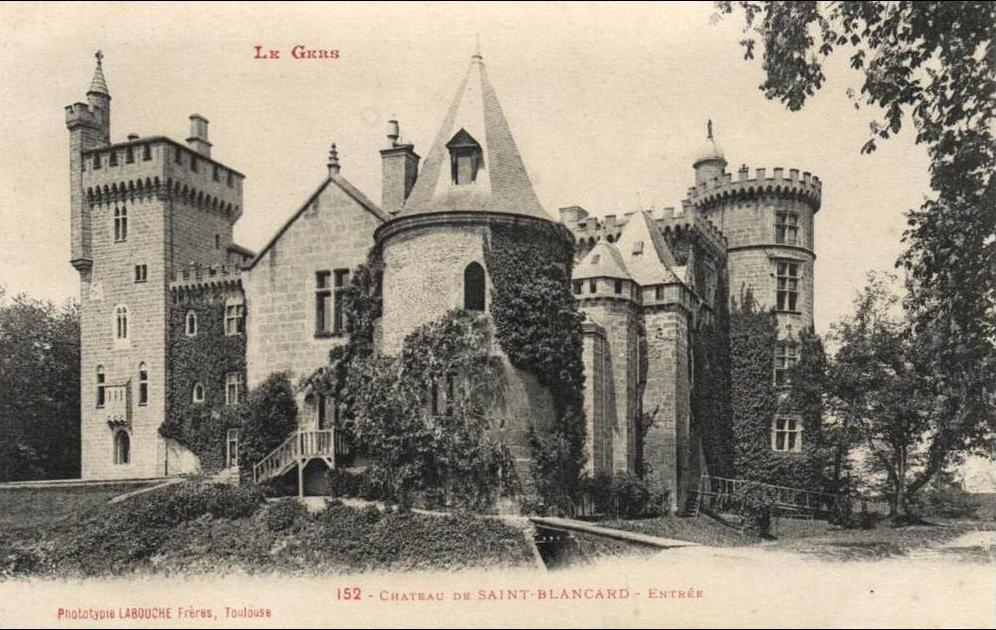 Saint-Blancard -  Chateau de Saint Blancard (32) Entrée