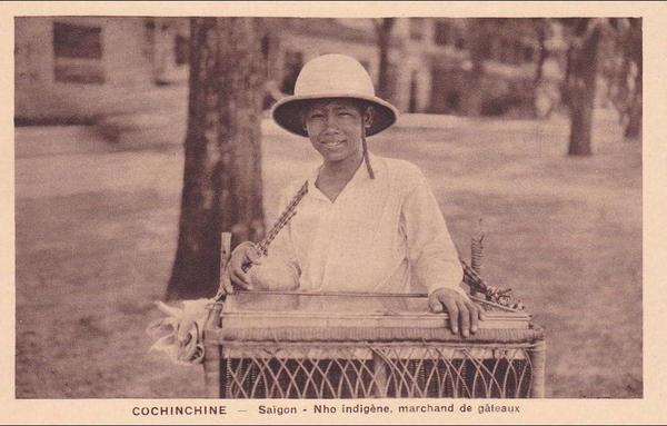 Ho-Chi-Minh -   : ASIE. VIET NAM. COCHINCHINE. SAÏGON. NHO INDIGENE. MARCHAND DE GATEAUX