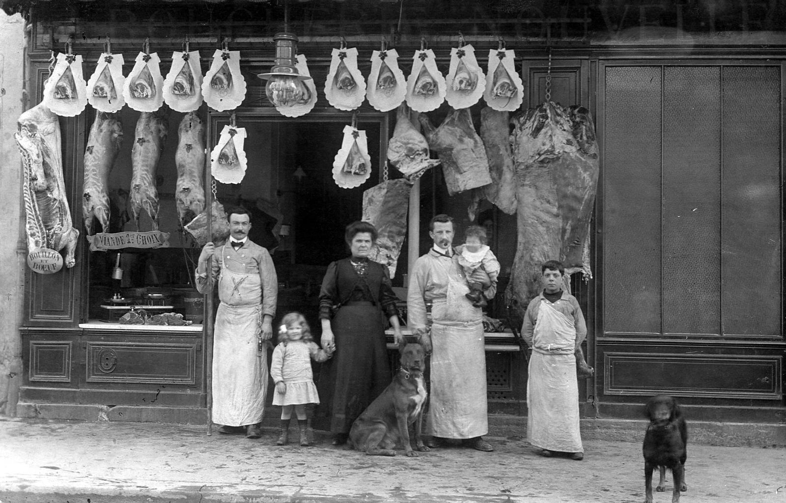 Paris -  Boucherie dans le XVIIIe à Paris