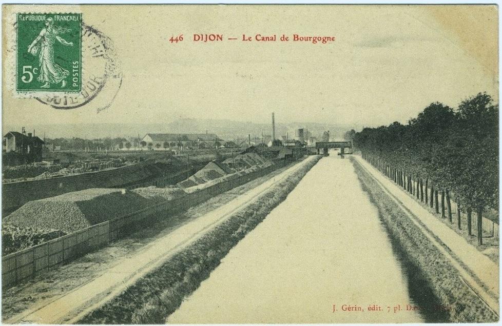 Canal De Bourgogne Carte.Dijon Canal De Bourgogne Apres Le Quai Gauthey Carte Postale