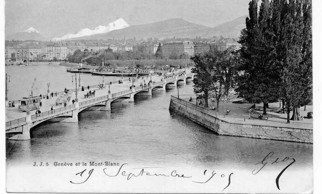 Geneve - Genève et le Mont Blanc