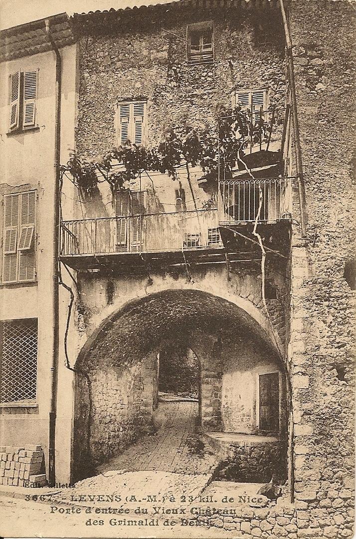 Levens - Levens - Porte d'entrée du vieux Chateau des Grimaldi de Beuil
