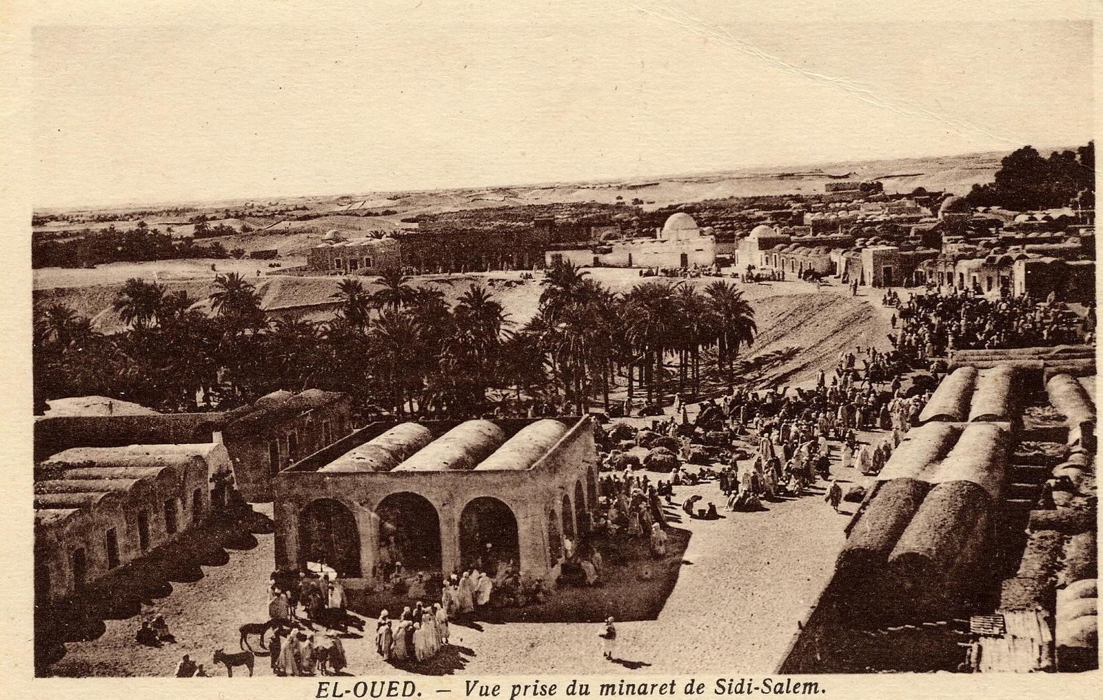 Biskra -  Vue du minaret  Sidi-Salem à El-oued Biskra Algérie.