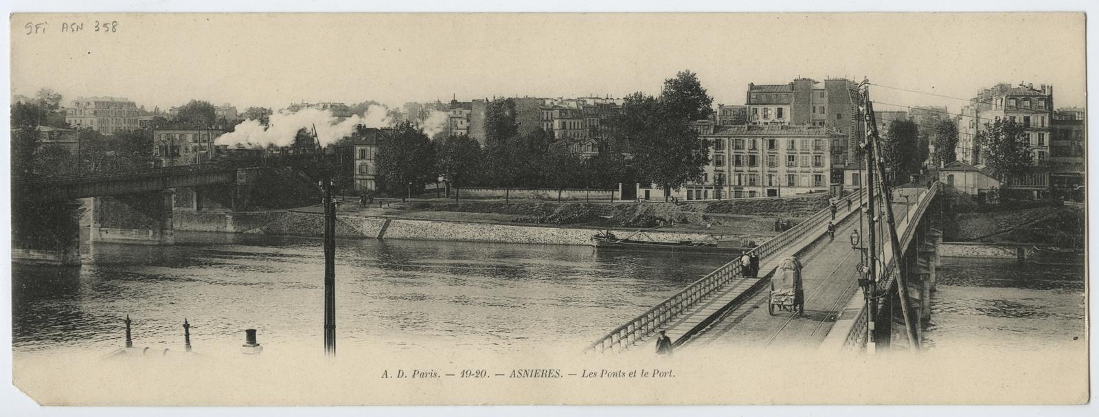 Asnières-sur-Seine - Les Ponts et le Port