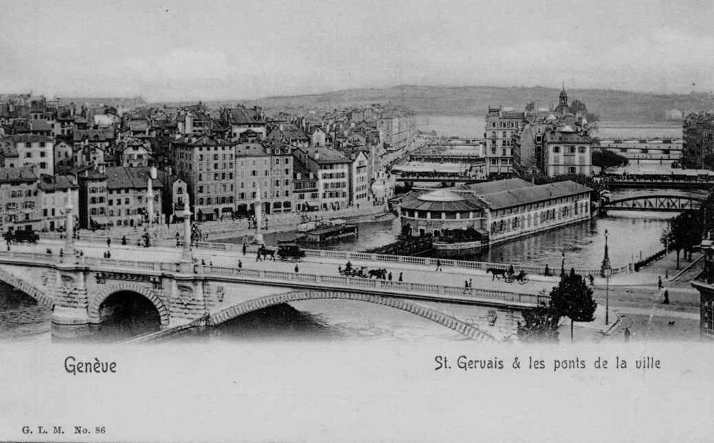 Geneve - St Gervais et les ponts de la ville