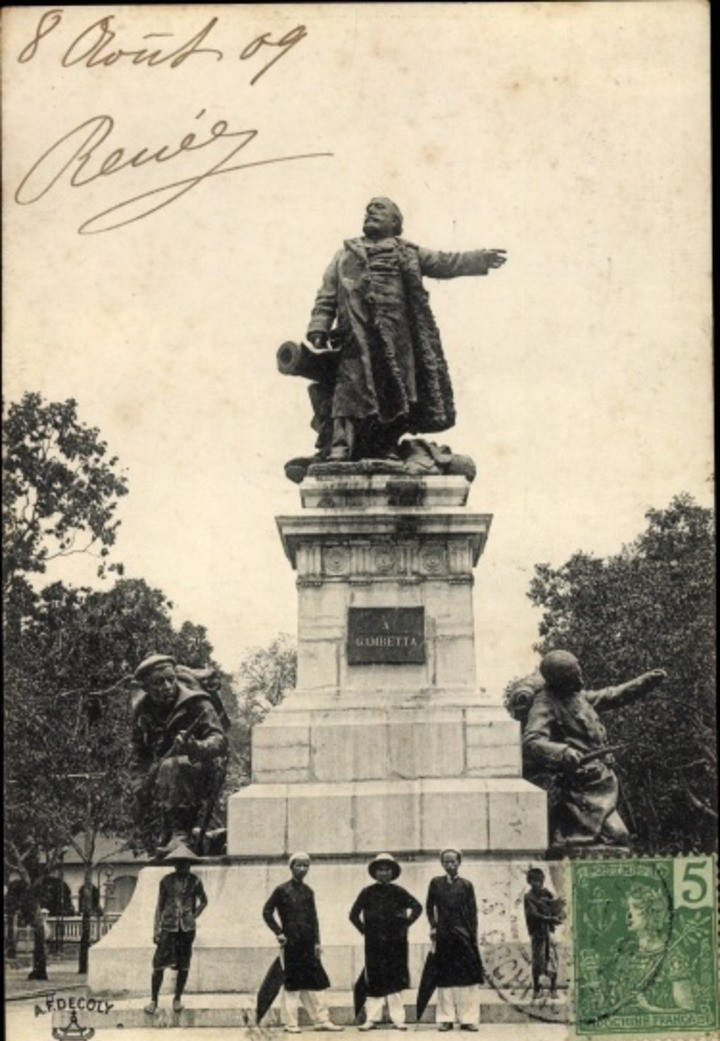 Hô Chi Minh-Ville -  Cp Saigon Cochinchine Vietnam, Statue de Gambetta
