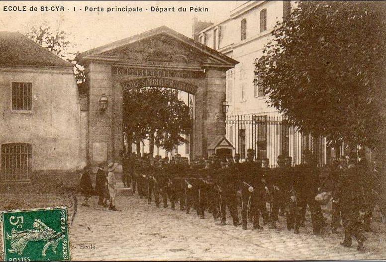 Saint Cyr L Ecole Saint Cyr Ecole Speciale Depart Du Pekin Carte Postale Ancienne Et Vue D Hier Et Aujourd Hui Geneanet