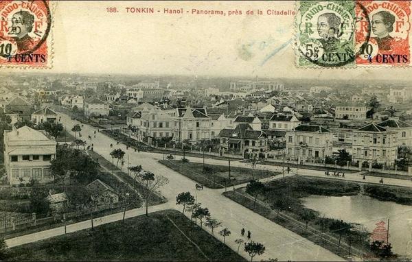Hanoi - TONKIN...HANOI..PANORAMA PRES DE LA CITADELLE...