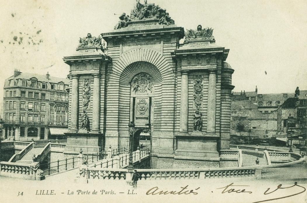 Lille La Porte De Paris Vroeger En Vandaag Geneanet