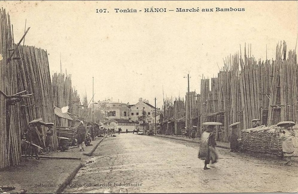 Hanoi - VIET NAM - TONKIN - INDOCHINE - Hanoï : Marché aux Bambous