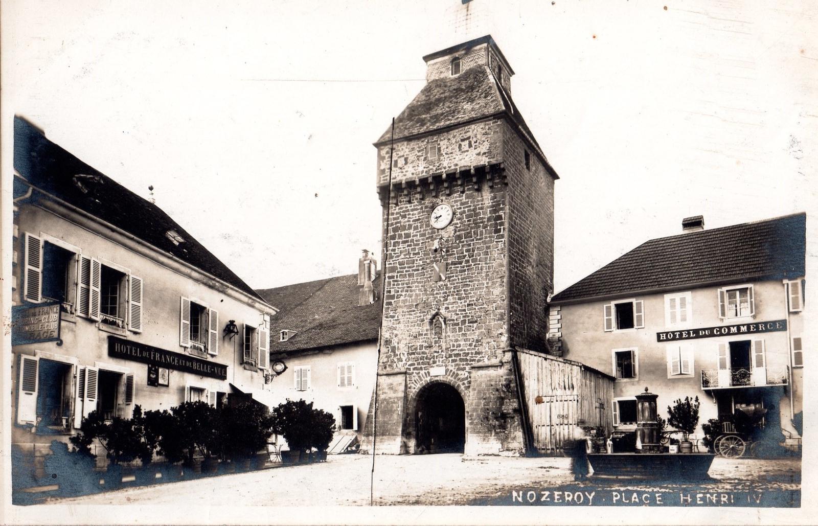 Nozeroy - Carte postale ancienne et vue d'Hier et Aujourd'hui - Geneanet