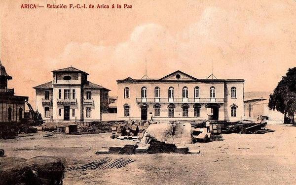 Arica - Estación del ferrocarril de Arica a La Paz.