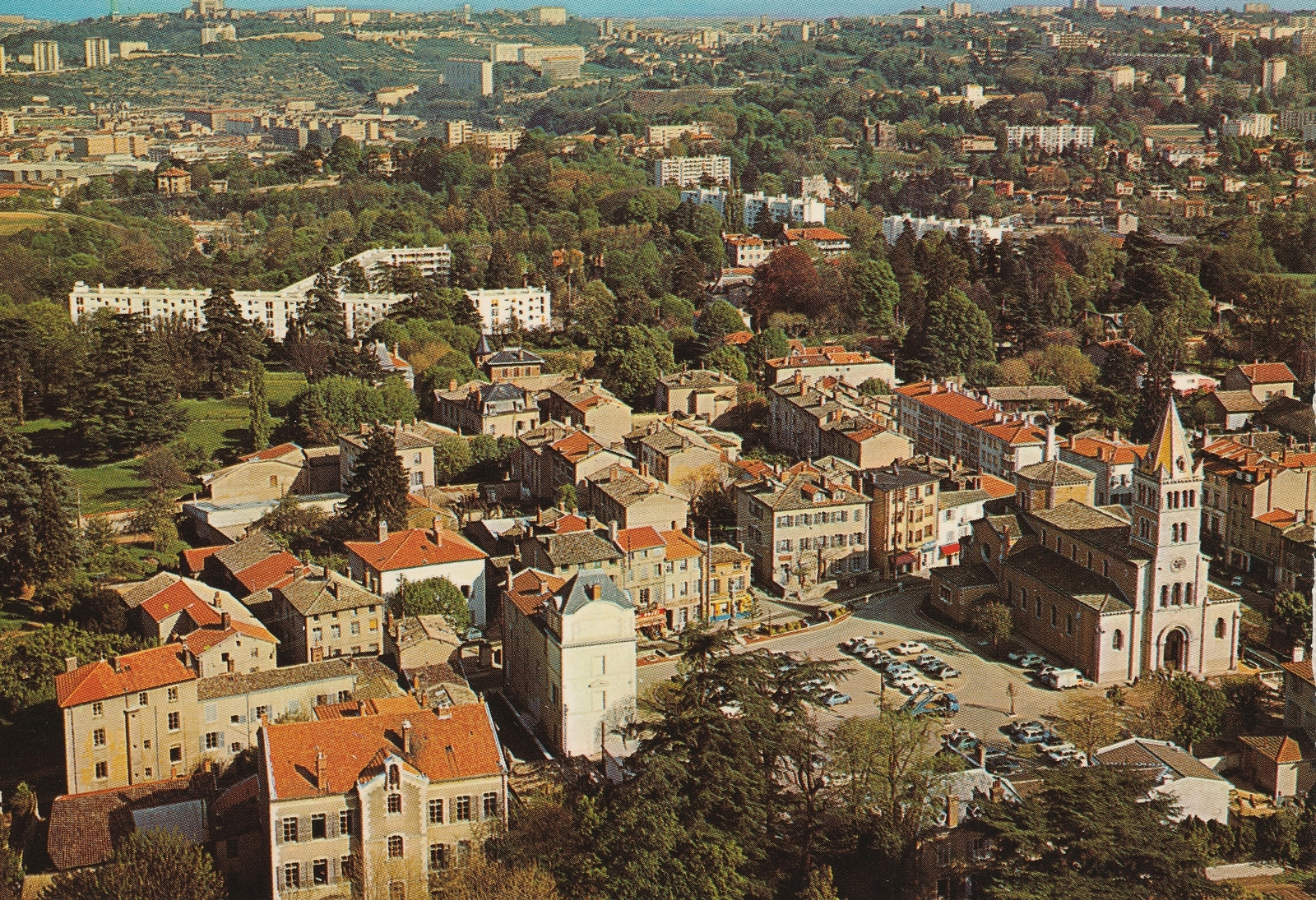 Ecully -  Carte postale Editions CELLARD 69500 BRON R733 Vue Générale
