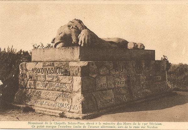 Fleury-devant-Douaumont - Verdun et les champs de batailles (recueil de cartes postales datant des années 1930) - René Paris sculpteur.