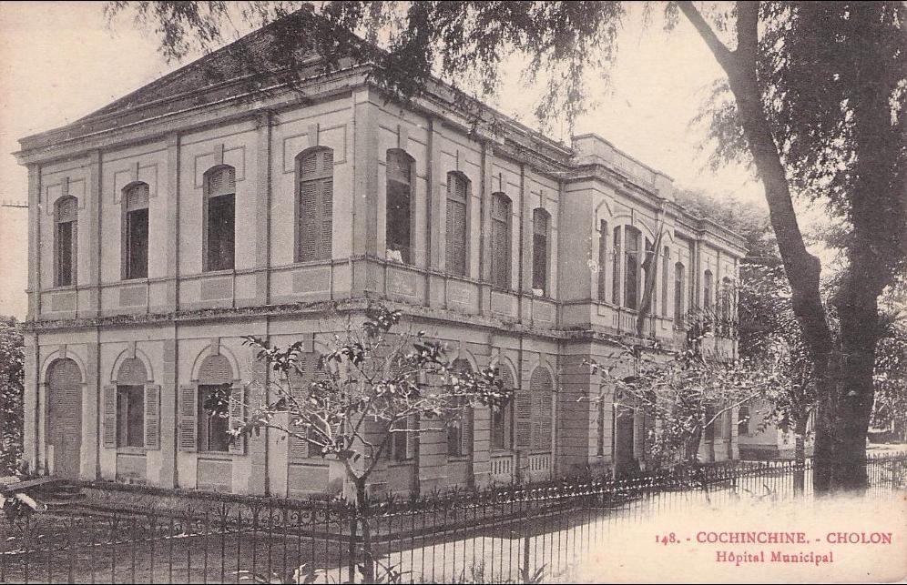 -  Cochinchine s/w blanc Hopital Municipal
