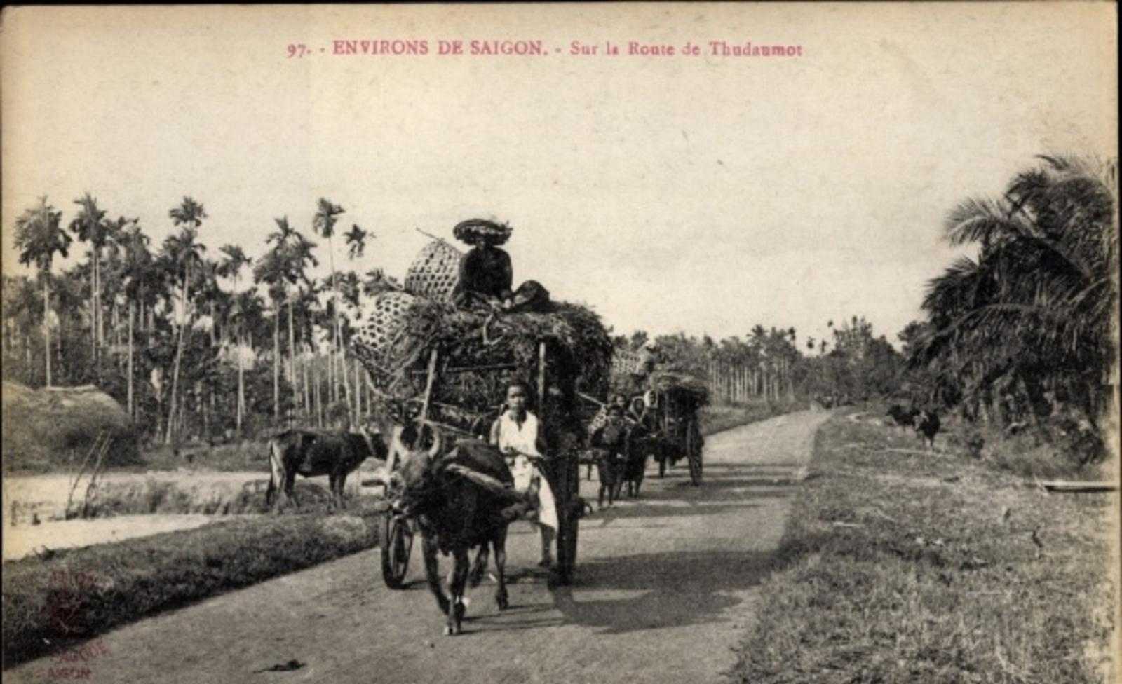 Hô Chi Minh-Ville -  Cp Saigon Cochinchine Vietnam, Environs de Saigon, Sur la Route de Thudaumos