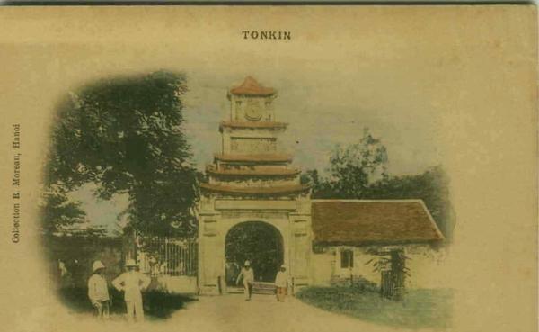 Hanoi - VIETNAM - TONKIN HANOI CITADELLE PORTE DE LA DIRECTION D'ARTILLERIE 1900s (BG993