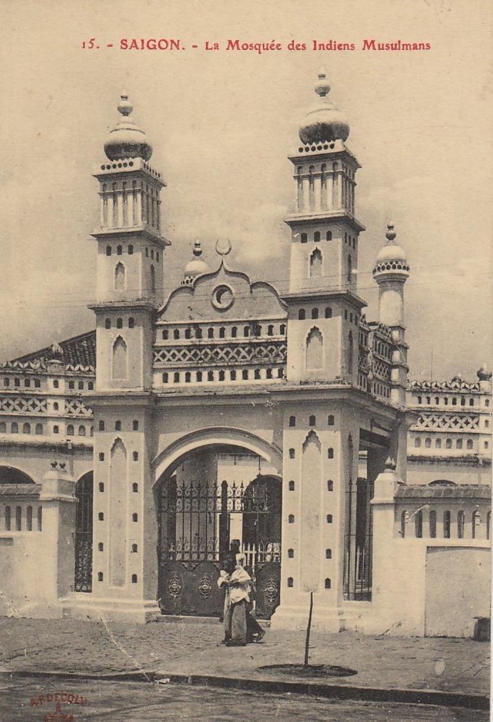 Hô-Chi-Minh-Ville -  COCHINCHINE VIET NAM saïgon la mosquée des indiens musulmans