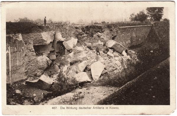 Kaunas - Die Wirkung deutscher Artillerie in Kowno