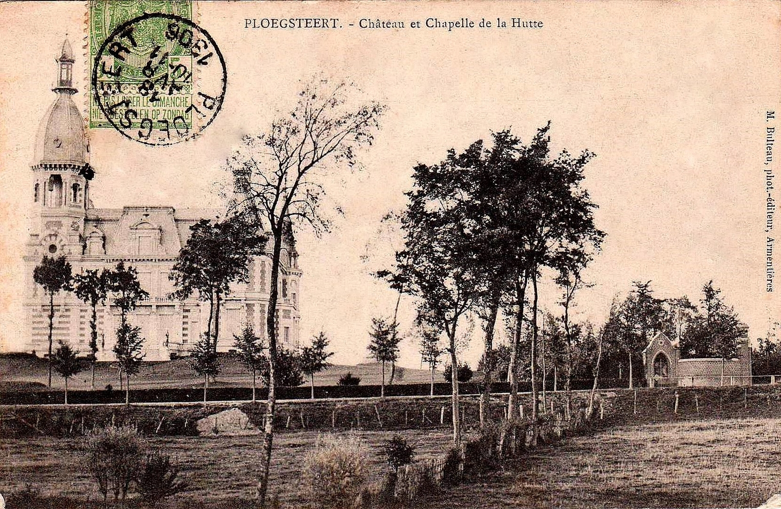 "Ploegsteert - Ploegsteert "" Chateau et Chapelle de la Hutte Anno 1906 """