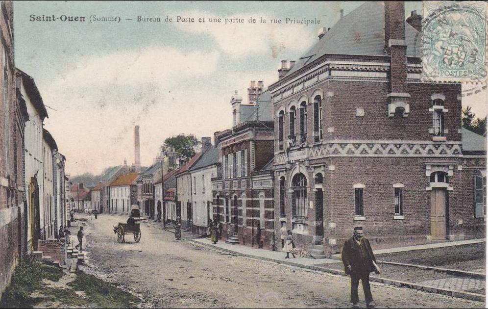Saint ouen saint ouen la mairie carte postale - Bureau de poste saint ouen ...
