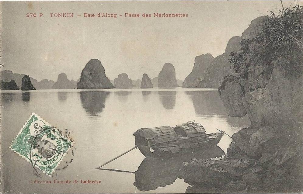-  Tonkin -Baie d,Along -Passe des Marionettes