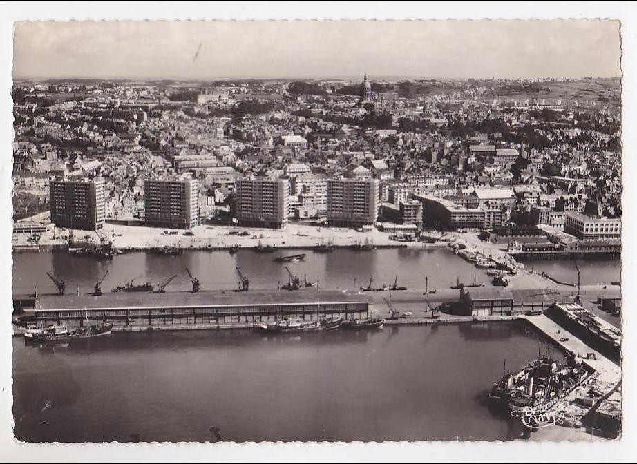 Boulogne sur Mer - BOULOGNE SUR MER EN PAS DE CALAIS VUE AERIENNE DE LA VILLE ET DU PORT CARTE ...